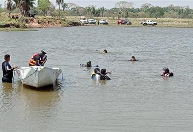 Rescatistas llevan buscando más de 12 horas buscando a Huasase en la zona de Warnes