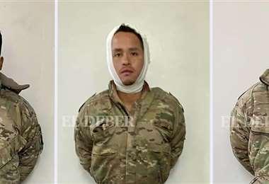 Los tres militares bolivianos aprehendidos en Chile