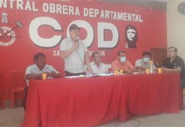 El dirigente cobista convocó a sectores afiliados y no afiliados a la COD a la cumbre
