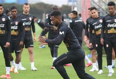 Un entrenamiento de la selección peruana en Lima. Foto: Internet