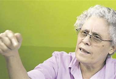 La disidente Dora María Téllez