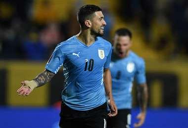 Georgian De Arrascaeta, volante de la selección uruguaya. Foto: AFP