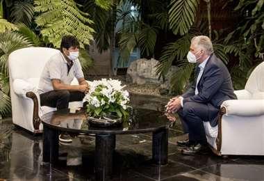 Evo Morales y Miguel Díaz-Canel, presidente de Cuba/Foto: Estudios Revolución