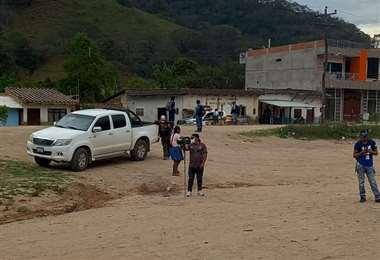 La inspección de la Fiscalía fue realizada ayer en la comunidad Hierva Buena de Mairana.