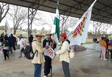 La marcha indígena continúa en Ascensión de Guarayos. Foto: Desther Ágreda