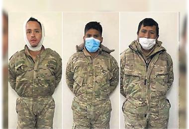 Los militares bolivianos están detenidos en Iquique. Foto. Internet