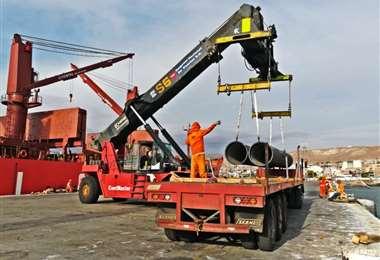 Cargamento boliviano de 10.679 toneladas llegó al puerto