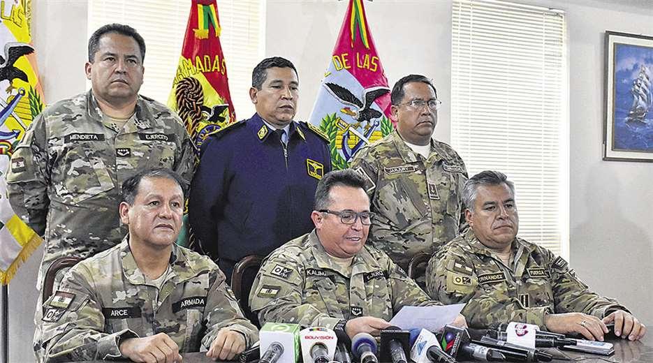 Determinan detención preventiva para exjefes militares Terceros y Jarjuri | EL DEBER
